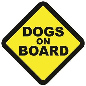 DOGS ON BOARD WARNING SAFETY STICKER pet Sign Vinyl for car vehicle window body