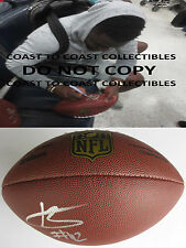 KARL JOSEPH,OAKLAND RAIDERS,SIGNED,AUTOGRAPHED,NFL DUKE FOOTBALL,COA,WITH PROOF