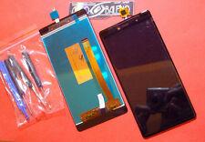 GLS: DISPLAY LCD+TOUCH SCREEN per WIKO FEVER 4G ORIGINALE +ATTREZZI VETRO NERO