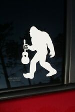 Bigfoot With Guitar die-cut window sticker, Buy 2 get 1 Free offer!