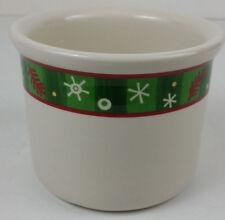 Longaberger Pottery One Pint Holiday Crock Christmas NIB