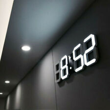 GB 3D LED Digital Reloj de Pared Electrónico Alarma Pantalla Temperatura Moderno