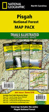 National Geographic Trails Illustrated NC Pisgah Nat Forest Map Pack Bundle
