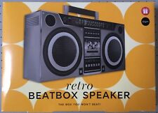 Retro Ghetto Blaster Boombox Speakers For Mobile / iPod Etc. - Gift Idea