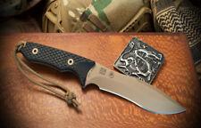 Spartan Blades Knife Ronin Shinto FDE Blade Black Handle Coyote Kydex Sheath