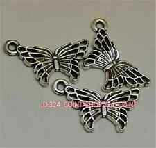 P1084 30pc Tibetan Silver  butterfly Charm Beads Pendant accessories wholesale