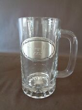 Things Remembered Glass Tankard With Pewter Emblem