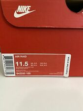 New listing Size 11.5 - Nike Air Raid White - 642330-100