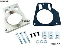 Silver Throttle Body Spacer Fit Chevy Tahoe Avalanche 1500 2500 4.8 5.3 8.1L V8