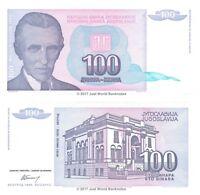 Yugoslavia 100 Dinara 1994 P-139 Banknotes UNC