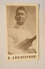 1940's Vintage G.J.Coles Cricket Card -  R.Christophani - New South Wales