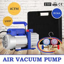 4CFM Vakuumpumpe Unterdruckpumpe Monteurhilfe Klimaanlagen 225ML Hose VacuumPump