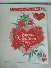Vintage Static Cling Valentine's Day Window Decorations Decals