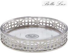 (World) BELLA LUX Luxury Chrome-Plated Finish Shell Glass Hotel Bath Soap Dish