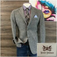Hickey Freeman Lindsey Mens Sport Coat Blazer Two Button Jacket Wool Size 42R