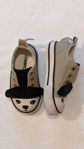 Gymboree Puppy Dog Sneakers Baby Boys Size 4 Tan Black Shoes