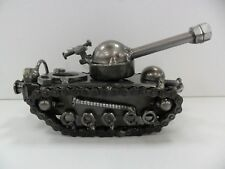 Metal Tank Sculpture - Made From Recycled Metal -