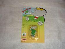 """VHTF Vintage 1991 IDEAL Babar 2.5"""" PVC Figurine Cake Topper SEALED ON CARD"""
