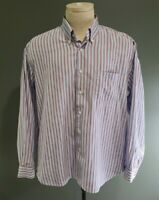 Barbour Regular Fit Striped Button-Down Long Sleeve Shirt Men's Size Large