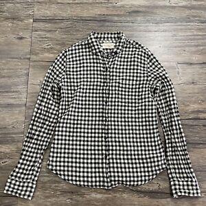 Ralph Lauren Denim & Supply Gingham Long Sleeve Button Up Shirt Womens Sz M