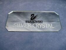 Swarovski Crystal Large Advertising Display Sign Plaque Mirror Shop Dealer