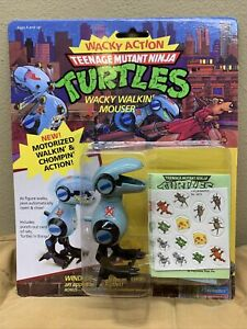 VINTAGE TMNT_Wacky action_Wacky Walkin Mouser_Motorized_NIB_1989