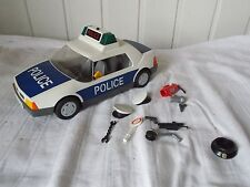 PLAYMOBIL 3904 voiture de police menottes casquettes extincteur pistolet 1997