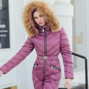 Womens Winter Outdoor Sport Romper Warm Ski Suit Waterproof Jumpsuit Snow Suit