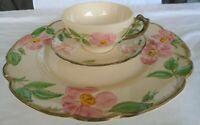 """Set of 3 Pieces Vintage Franciscan Desert Rose 10.5"""" Dinner Plate, Cup & Saucer"""