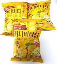(60g x 3 Bag) New Haitai Honey Butter Chip Korean Potato Chips Hit Snack Popular