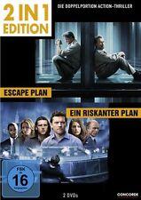 ESCAPE PLAN (Arnold Schwarzenegger) + EIN RISKANTER PLAN (2 DVDs) NEU+OVP