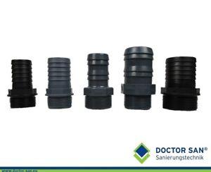 Schlauchtülle Schlauchreduzierung Reduzierstück mit Gewinde verschiedene Größen