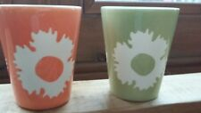 Partylite candle holders - colourful flower design