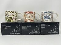 Disney Starbucks Star Wars Been There Mug Batuu Tatooine Endor 2021 Set of 3