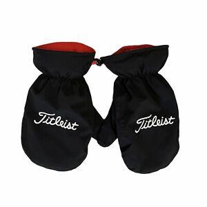 Titleist Golf Cart mitts fleece mittens  Black Red
