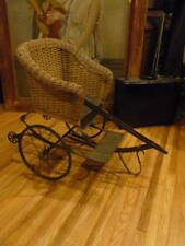 1900 HEYWOOD WAKEFIELD CHARIOT WICKER COACH CHILDS PULL PUSH STROLLER CARRIAGE