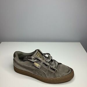 Puma Basket Brown Suede Strap Womens Trainers UK Size 6