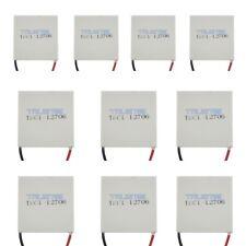 10x TEC1-12706 Heatsink Thermoelectric Cooler Peltier Plate Module 12V 60W