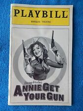 Annie Get Your Gun - Marquis Theatre Playbill - January 2000 - Bernadette Peters