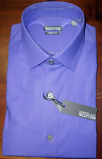 NWT MENS KENNETH COLE REACTION PURPLE REGULAR FIT DRESS SHIRT 15 1/2  34/35