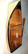 Regal in Bootsform- mit Paddeln- Holz- teilweise bemalt