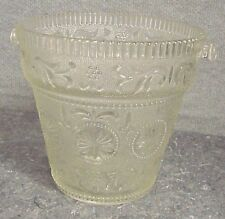 "VINTAGE BROCKWAY GLASS CO ""AMERICAN CONCORD"" CLEAR PATTERN GLASS ICE BUCKET"