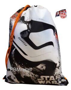 Official Disney Star Wars Kids Drawstring bag Gym swimming The Force Awakens