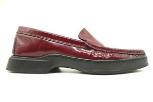 Coach Alaura Burgundy Patent Leather Dress Casual Loafers Shoes Women's 6 B
