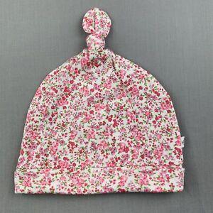 Girls size 00, Bebe by Minihaha, floral cotton hat / beanie, Size XS, EUC