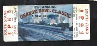1985 Orange Bowl college football ticket Washington Huskies v Oklahoma Sooners