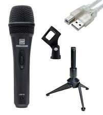 DYNAMISCHES USB MIKROFON VOCAL MIKRO HOME RECORDING MIC LAPTOP TISCHSTATIV SET