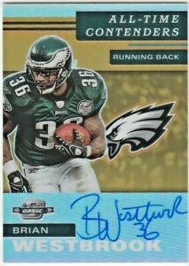 Brian Westbrook Philadelphia Eagles 2019 Contenders Optic NFL All-Time AUTO /35