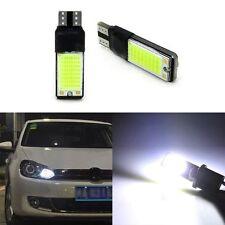 2PCS NEW White T10 194 168 2825 W5W High Power COB LED Bulbs Car Light DC 12V