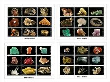 2011 MINERALS ROCKS 6 SOUVENIR SHEETS MNH UNPERFORATED